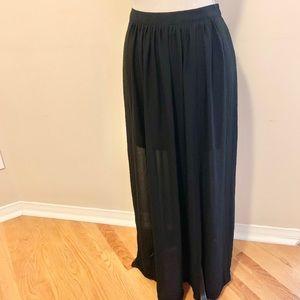 2/$20 Black H&M Sheer Maxi Skirt